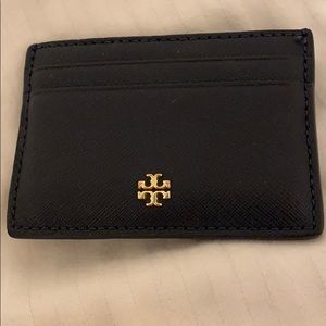 Like new Tory Burch navy blue card holder!